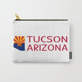 Arizona: Tucson (State Shape & Flag) Carry-All Pouch