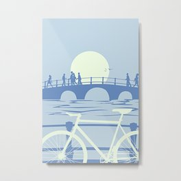 Amsterdam Stop Over Metal Print