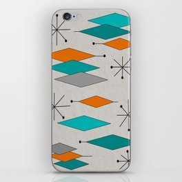 Mid-Century Modern Diamond Pattern iPhone Skin