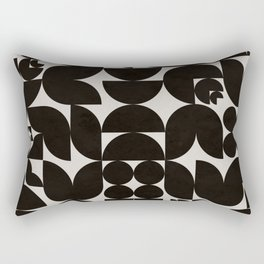 Black & White Mid Century Modern Pattern Rectangular Pillow