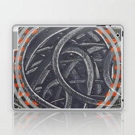 Junction - orange circle Laptop & iPad Skin