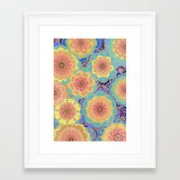 mandala Framed Art Prints featuring Obsession by micklyn