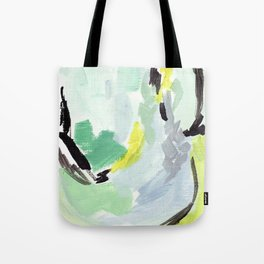 Twirl Green: Abstract Painting Tote Bag