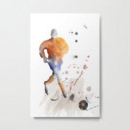 Soccer Player 7 Metal Print