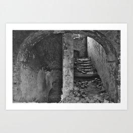 Monastery stairs Art Print