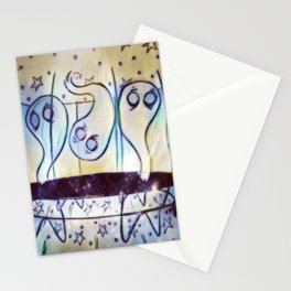 Ghosties on Trampolines Stationery Cards