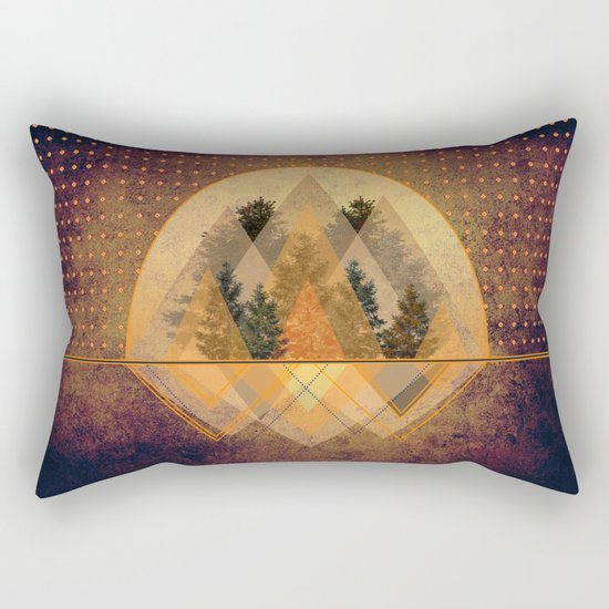 try again tree-angles mountains Rectangular Pillow
