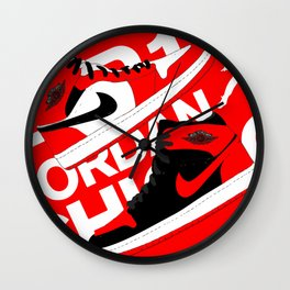 Chicago Red AJ1 Wall Clock
