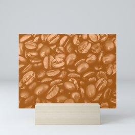roasted coffee beans texture acrcb Mini Art Print