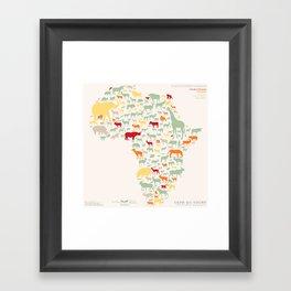 Endangered Safari - without animal names Framed Art Print