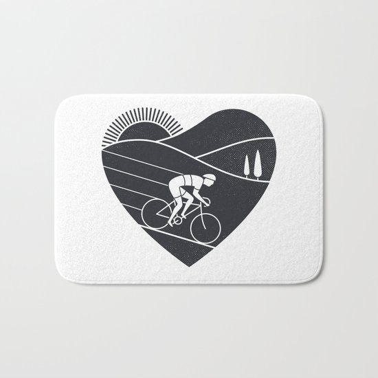 Love Cycling Bath Mat