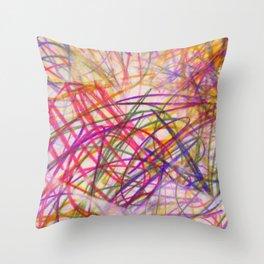 Ilaria Multi Scribble Throw Pillow