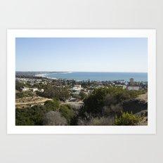 Coastal Town Art Print