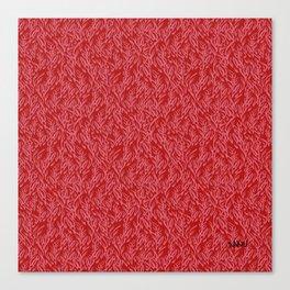 Feathered Flocks - Pomegranate Canvas Print