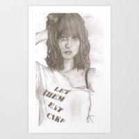 hayley williams Art Prints featuring Hayley williams 2 by Dead Rabbit