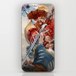 Knights fight iPhone Skin