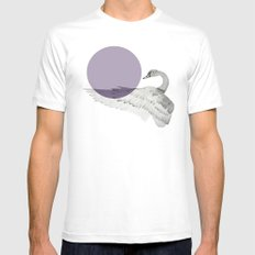 swan Mens Fitted Tee White MEDIUM