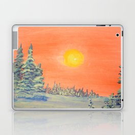 winter trees snow and sun . Laptop & iPad Skin