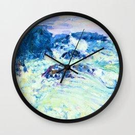 Rough sea, Morestil - Digital Remastered Edition Wall Clock