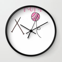Knitting Gifts Women Funny This Mommy is Knotty Yarn Shirt T-Shirt Wall Clock