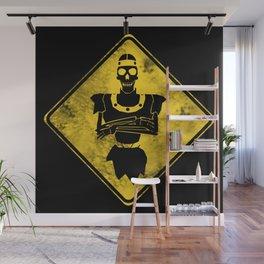 Dragon's Lair Warning Sign Wall Mural