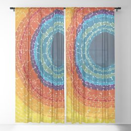 African American Masterpiece The Eclipse by Alma Thomas Sheer Curtain