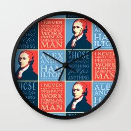 Alexander Hamilton Quotes Wall Clock