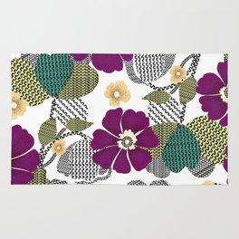 The repeat design / flower and geometric design illustration Rug