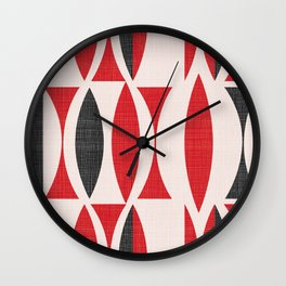 Seventies in Cherry Red Wall Clock