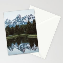 Grand Tetons Relfection at Sunrise Stationery Cards