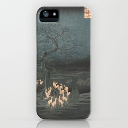 New Year's Eve Foxfires at the Changing Tree, Hiroshige iPhone Case