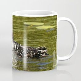 Mother And Her Loon Chick Coffee Mug