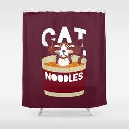 Cat Noodles Shower Curtain