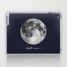 Full Moon on Navy English Laptop & iPad Skin