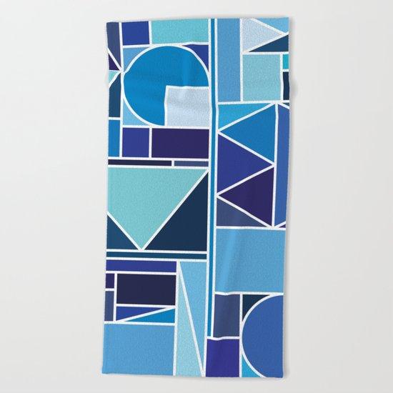 Kaku Blue Beach Towel