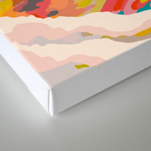 glass mountains Canvas Print