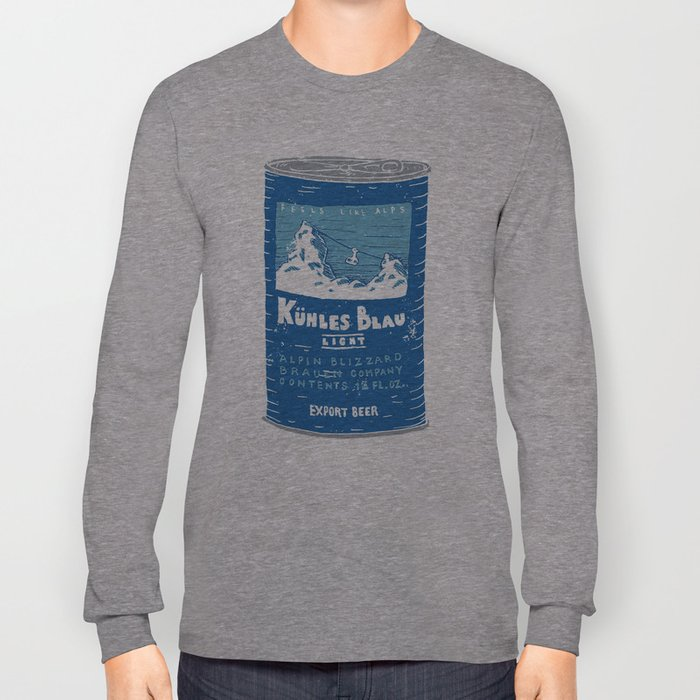Kuhles Blau Light Long Sleeve T-shirt