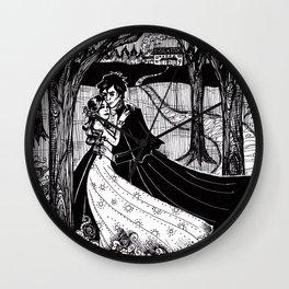 Cliche Gothic Romance Wall Clock