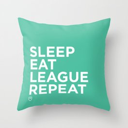 Eat League Sleep Repeat Throw Pillow