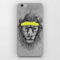 hipster iPhone & iPod Skins featuring hipster lion by Balazs Solti