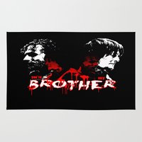 rick grimes Area & Throw Rugs featuring Daryl Dixon and Rick Grimes by artandawesome