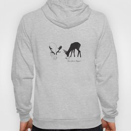 Deer love a Cuppa! Deer products, woodland illustration, animal lovers, deer gifts, Hoody