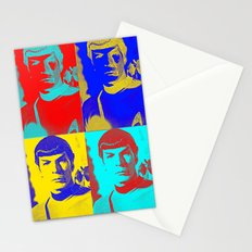 Science Officer Spock (Andy Warhol Remix) Stationery Cards