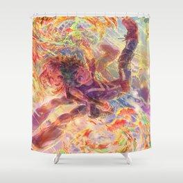 BNHA: Uraraka Ochaco + Midoriya Shower Curtain
