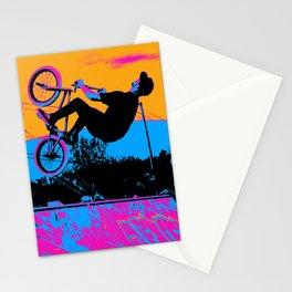 BMX Back-Flip Stationery Cards