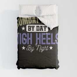 Combat Boots By Day High Heels Female Soldier Comforters