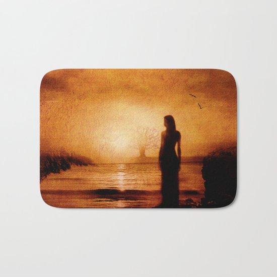 Melancholy in the sunset Bath Mat