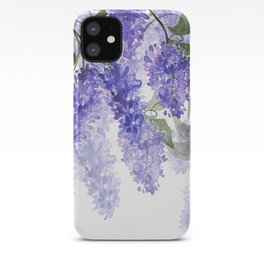 Purple Wisteria Flowers iPhone Case
