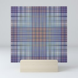 Classic Scottish plaid tartan pattern Mini Art Print