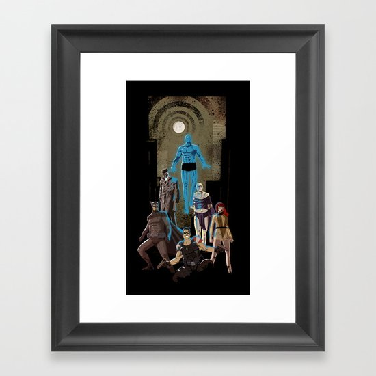 Who watches Framed Art Print